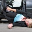 Injured driver — Stock Photo