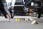 Accident forensics — Stock Photo