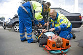 EMS team at work — Stock Photo
