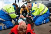 First aid Teamwork — Stock Photo