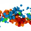 3d abstract colorful cubes — Stock Photo #11281869