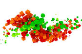 3d abstract colorful cubes — Stock Photo