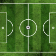 Постер, плакат: Football or soccer field with ball