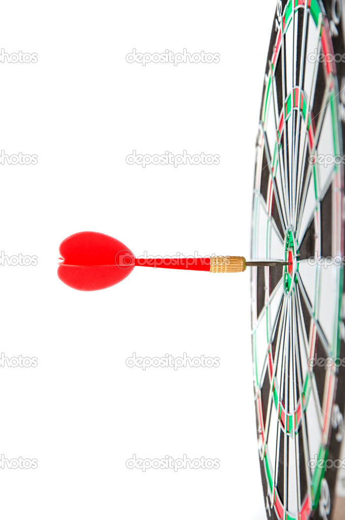Darts hitting a target — Stock Photo #10969904
