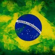 Grunge flag of Brasil — Stock Photo