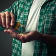 Man taking pills — Stock Photo