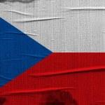 Czech flag — Stock Photo