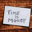 Stock Photo: Time is money reminder