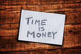 Time is money reminder — Stock Photo