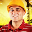 Stock Photo: Young construction worker