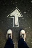 Pěšky směr — Stock fotografie