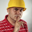 Young construction worker - Stock Photo