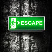 Emergency exit sign — Stock Photo
