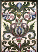 Majolica tiles on the facade of the house, St. Petersburg — Stock Photo