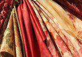 Fabric in the window — Stock Photo