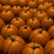 3d Render of a Pumpkin Patch - Stock Photo