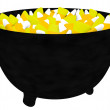 3d Render of a Witches Cauldron Filled with Candy Corn Isolated on White — Stock Photo #12227129