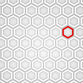3d Render of an Abstract Hexagonal Background — Stock Photo