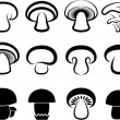The stylized mushrooms. — Stock Vector
