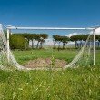 Football aksoccer pitch, unused, dilapidated — Stock Photo #10899019