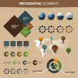 Vector set of infographic elements — Vector de stock