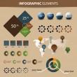 Infographic öğeleri kümesi vektör — Stok Vektör