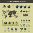 Vector set of eco infographic elements — Vector de stock