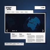 Vector plantilla Web — Vector de stock