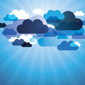 Abstract Clouds Background Vector — Stock Vector