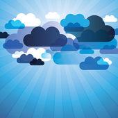 Soyut bulut plan vektör — Stok Vektör
