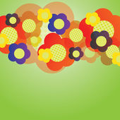 Abstract Colorful Floral Background Vector — Stock Vector