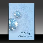 рождественские листовки или дизайн обложки — Cтоковый вектор