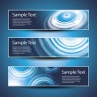 Three abstract header designs — Stock Vector