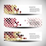 Three abstract header designs — Stock Vector