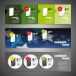 Header Design Set — Stockvectorbeeld