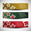 Christmas header vector set — Stock Vector