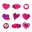 Valentine's Day Hearts — Stock Vector
