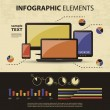 vector set of infographic elements — Stock Vector