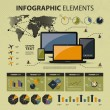 Vector set of infographic elements — Stock Vector #12271772