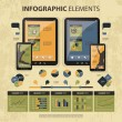 Vector set of infographic elements - Imagen vectorial