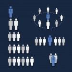 数字和图标-业务和团队的工作理念 — 图库矢量图片