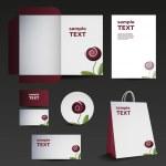 ひな形テンプレート デザイン - ビジネス セット — ストックベクタ