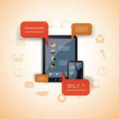 Cloud-computing-konzept — Stockvektor