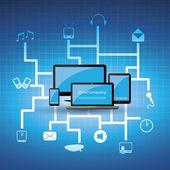 Bulut bilgi işlem kavramı — Stok Vektör