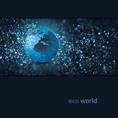 Eco Earth Design Vector — Stock Vector