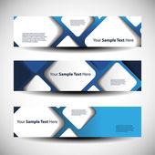 Drei abstrakt header-designs — Stockvektor