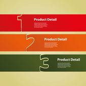 Header or Banner Design - Numbers — Stock Vector