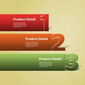 Kopf- oder banner design - zahlen — Stockvektor