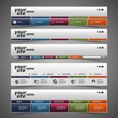 Elementi di web design - disegni di intestazione — Vettoriale Stock
