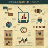 Retro vector set of infographic elements — Vetorial Stock